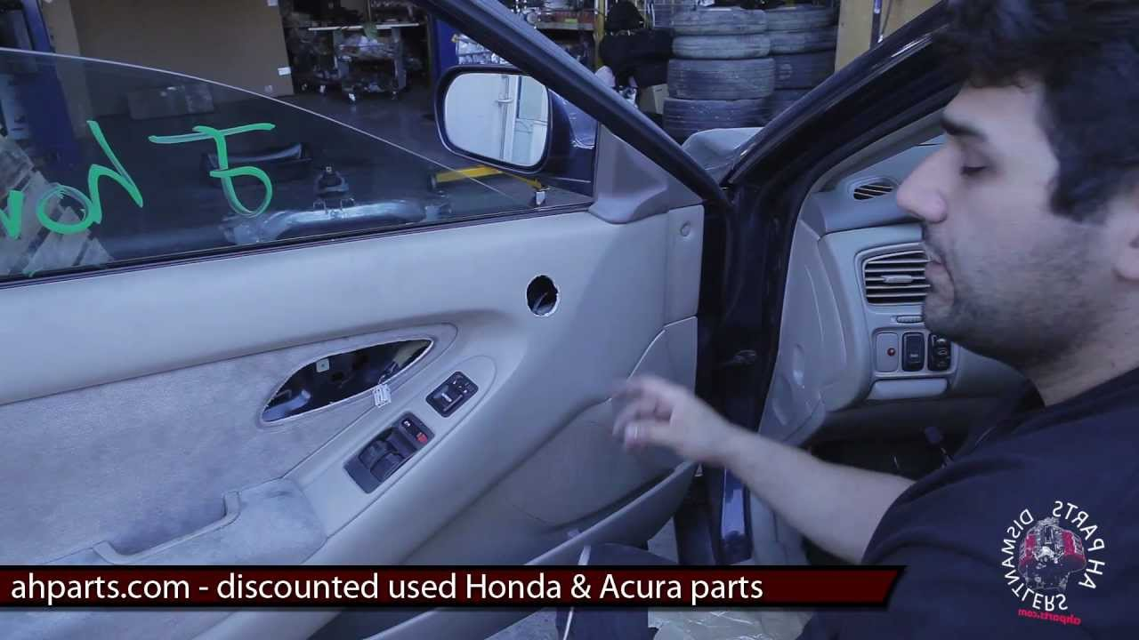 How to fix replace install broken power window regulator for 2002 honda accord power window problems