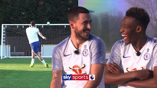 Hazard v Hudson-Odoi in Hit the Cup Challenge! | Football Challenge and Exclusive Interview