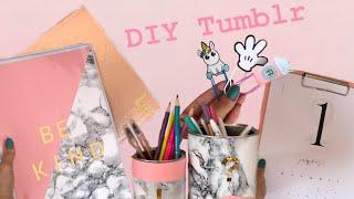Volta às aulas DIY Tumblr - Personalizando meus materiais da faculdade
