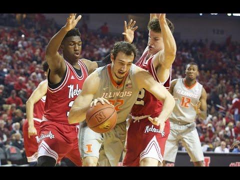 Illinois Basketball Highlights at Nebraska | 2/26/17