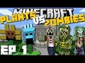 Minecraft: PLANTS VS ZOMBIES MOD (White House Special Edition) Mod Survival Game Ep 1