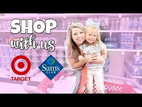 TARGET AND SAMS CLUB SHOP WITH ME | TARGET HAUL | SAMS CLUB HAUL