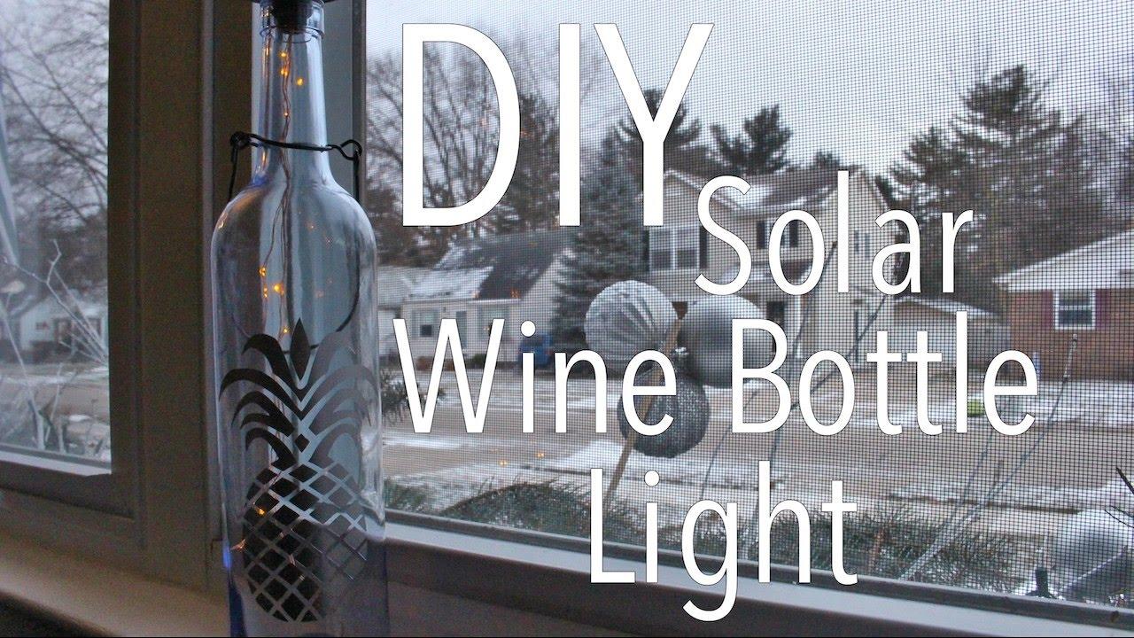 Diy solar wine bottle light youtube for Diy solar wine bottle lights