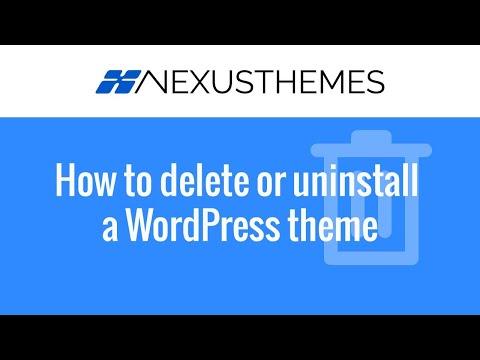 How to delete or uninstall a WordPress theme