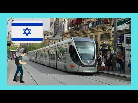JERUSALEM, riding the TRAM (LIGHT RAIL), ISRAEL