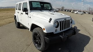 2015 Jeep Wrangler Unlimited Sahara X Package White | New Jeep For Sale | 17809