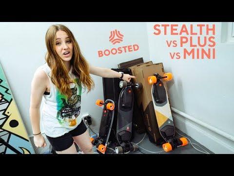 BOOSTED Stealth vs Plus vs Mini S
