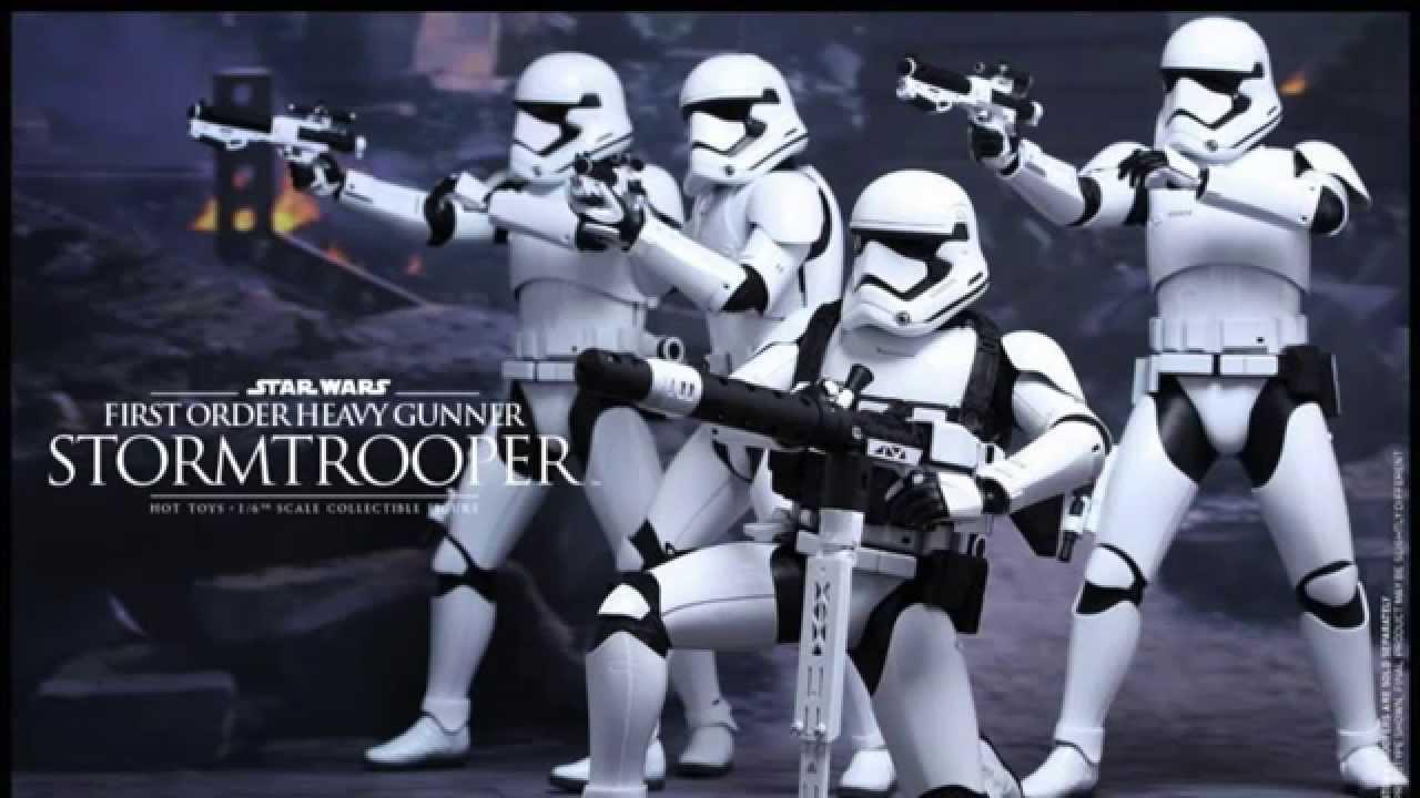 Star Wars Hot Toys First Order Stormtrooper Heavy Gunner