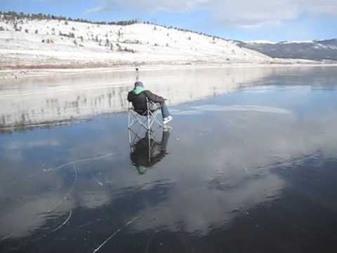 Black ice twin lakes colorado december 2009 youtube for Twin lakes fishing report