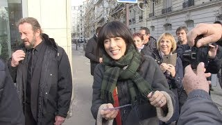 Nolwenn Leroy and Stephane Plaza at RTL Radio Station in Paris