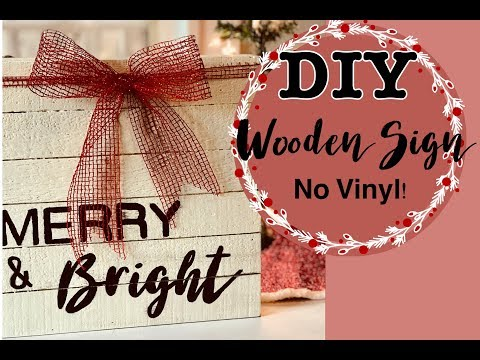 VLOGMAS DAY 4 | DIY WOODEN SIGN | TRANSFER WRITING TO WOOD WITHOUT VINYL!