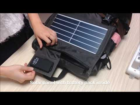 solar-charger-backpack-with-power-bank-for-cell-phone,-speaker,-gps-and-other-5v-devices-ece-662
