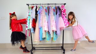Ksysha VS Ksenia neighbor plays Dress UP & MakeUP toys