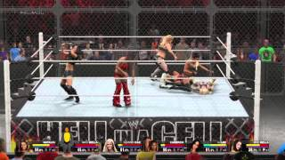 WWE 2K15 Divas Hell In A Cell