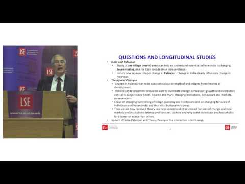 LSE Events | Lord Stern, Amartya Sen | Economic development in Palanpur over seven decades