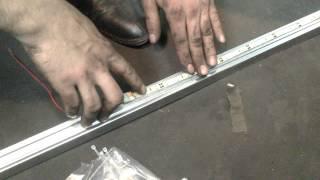 видео подсветка авто светодиодной лентой