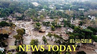 News Today 01/11/2018 | Donald Trump | California Mudslide's Death Toll Includes Mother, School...