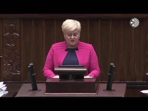 Małgorzata Pępek –  wystąpienie z 20 marca 2018 r.