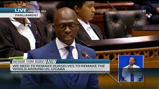 SA Finance Minister Malusi Gigaba delivers mid-term budget (Full speech)