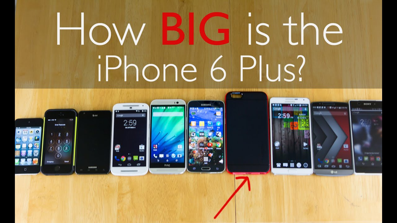 how big is an iphone 5 iphone 6 plus how big is it anyway 18425