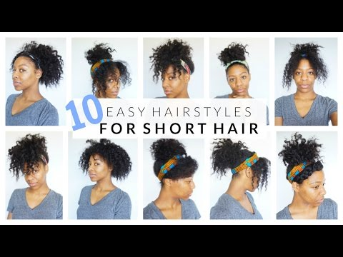 10 Easy Hairstyles For Short Medium Curly Hair Youtube