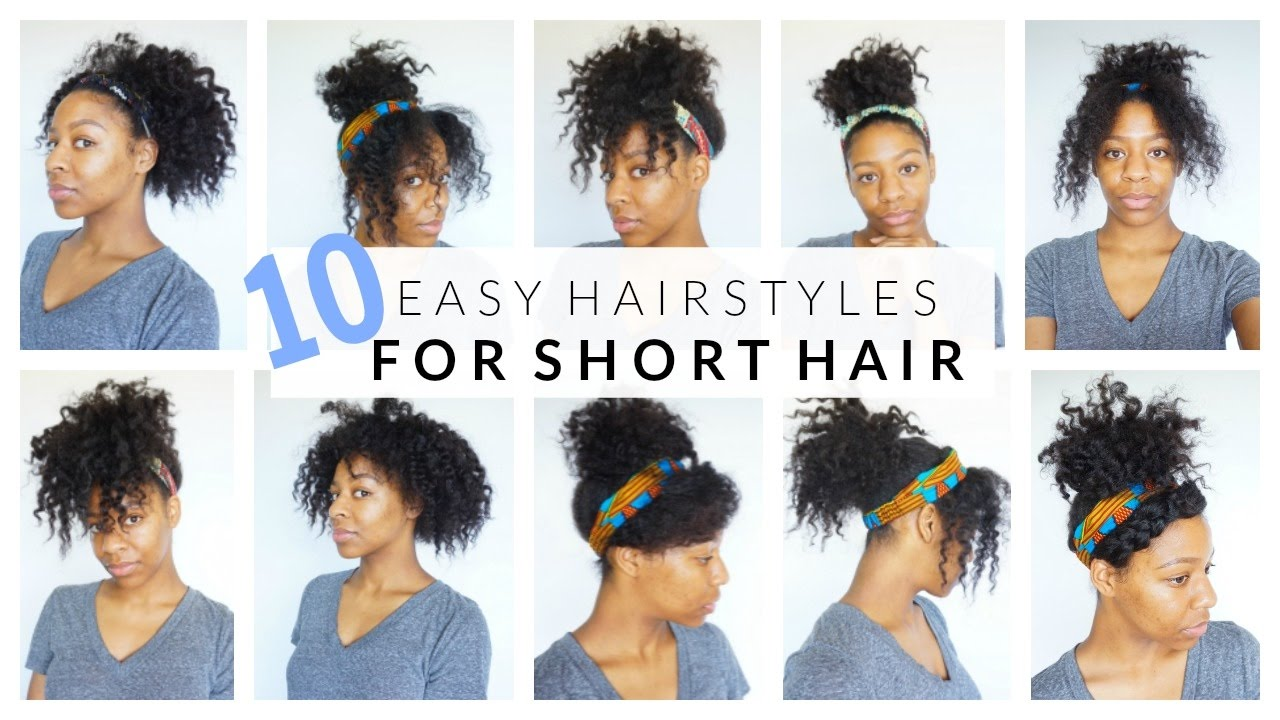 10 EASY Hairstyles For SHORT MEDIUM Curly Hair - YouTube