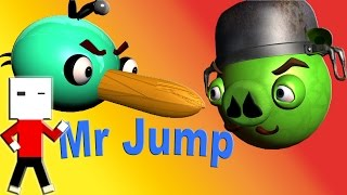 ANGRY BIRDS in MR.JUMP ♫ 3D animated  spoof game mashup  ☺ FunVideoTV - Style ;-))