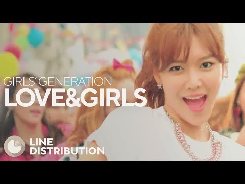 GIRLS' GENERATION - LOVE&GIRLS (Line Distribution)