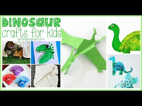 Dinosaur crafts - How to Make Mounted Dinosaurs Wall Art Feature - My Daily Hacks