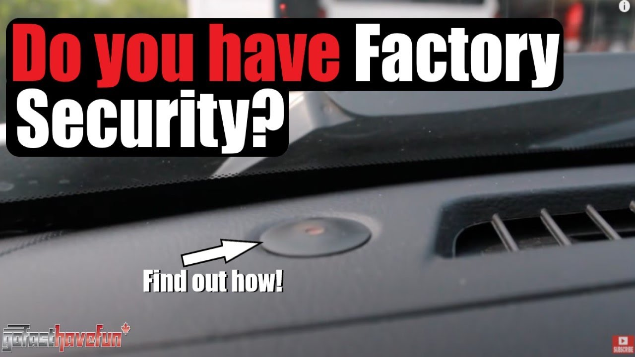 How To Tell If You Have A Factory Alarm Security System