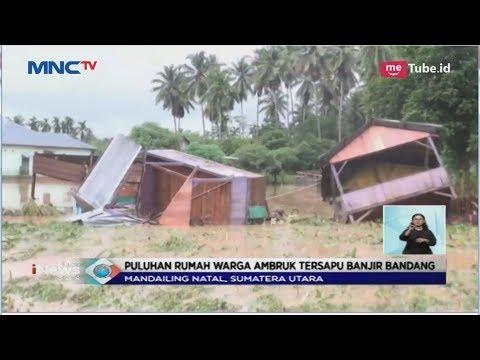 Banjir Terjang Mandailing Natal, Puluhan Rumah Ambruk  - LIS 08/11