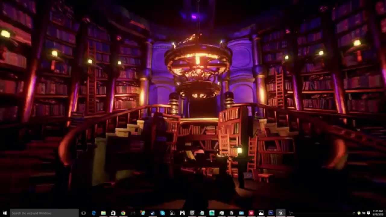 Unreal Engine 4 - Library Entrance