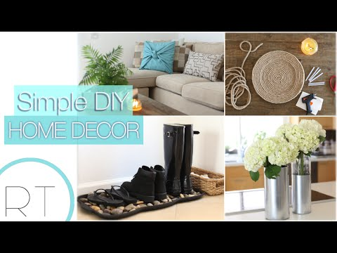 Simple diy home decor youtube for Simple home decorations