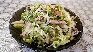 Легкий САЛАТ без МАЙОНЕЗА рецепт салат СВЕЖЕНЬКИЙ Salad without mayonnaise recipe