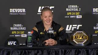 UFC 261: Valentina Shevchenko Post-fight Press Conference