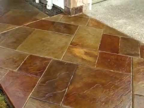 Stamped Concrete Stained To Look Like Stone