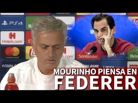 Le preguntan a Mourinho por el césped artificial y acaba hablando... ¡de Federer! | Diario As