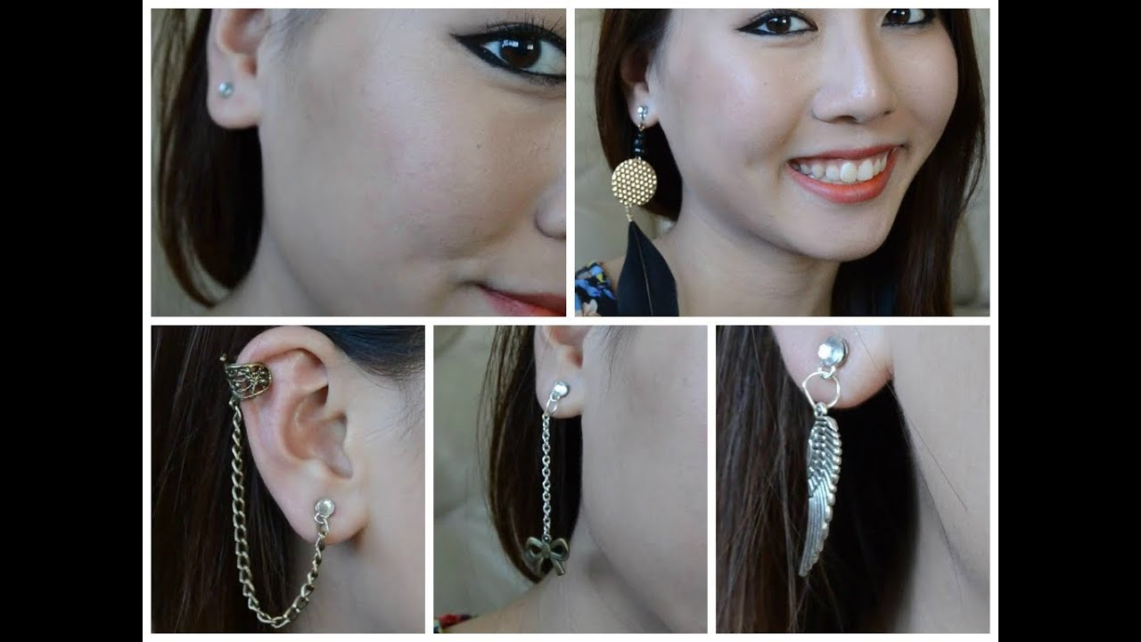 Diy Fake Magnetic Earrings Cartilage Feather Studs You