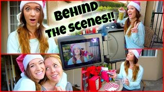 BEHIND THE SCENES!!! Vlogmas Day 10!! Thumbnail