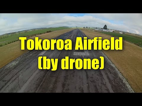 The full length of Tokoroa Airport (NZTO) by drone