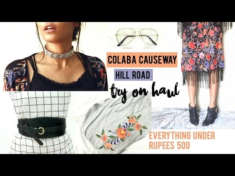 Huge Colaba Causeway/Hill Road Try On Haul | 2017