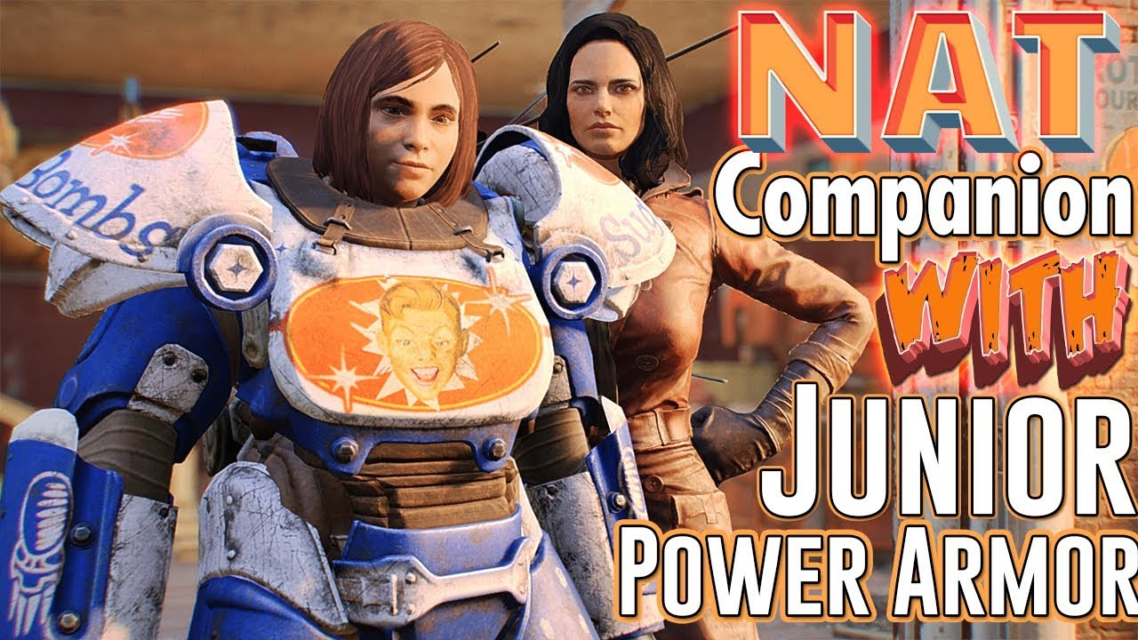 Fallout 4 - NAT COMPANION - Junior Power Armor - Recruit Nat & Piper As  Companion and Quest Mod