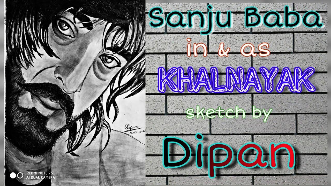 Sanjay Dutt in and as Khalnayak   sketch by Dipan   Sanju ...