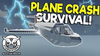 MULTIPLAYER PLANE CRASH SURVIVAL! - Stormworks: Build and Rescue Gameplay - Sinking Ship Survival