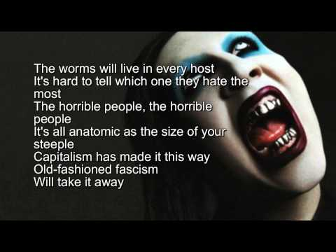Marilyn Manson - Beautiful People / Instrumental with Lyrics ( Karaoke )