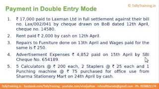 Module 5 | Session 3 | Payment Voucher in Double Entry Mode Tally.ERP 9 in Hindi