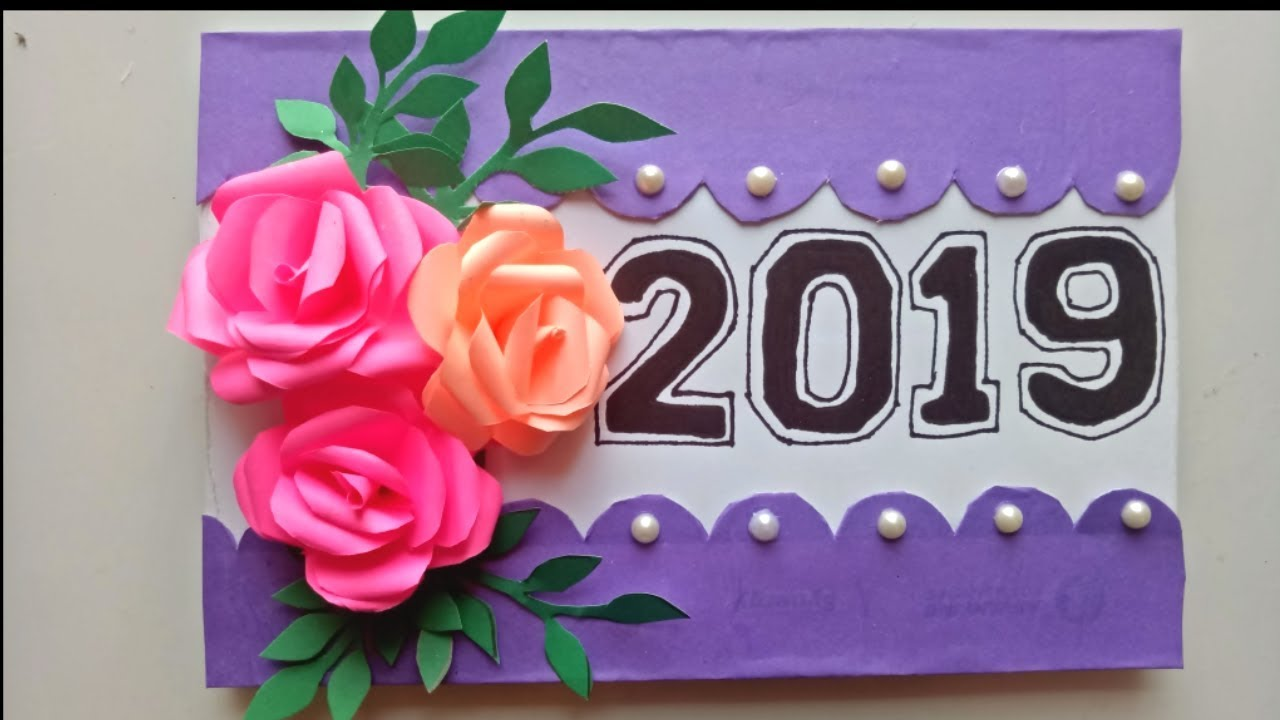 how to make new year 2019 card new year pop up card handmade