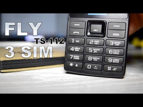 Обзор FLY TS 112 - Телефон на 3 Сим-карты