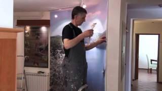Murali print foto zidnih tapeta i postavljanje na zid thumbnail