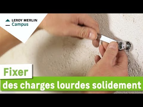 comment fixer des charges lourdes solidement leroy merlin youtube. Black Bedroom Furniture Sets. Home Design Ideas